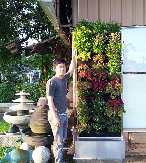Eco Frame 36 Pocket - Recirculating Vertical Garden Planters